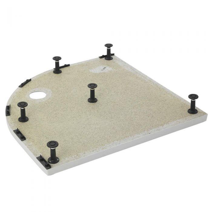 Piedini e Pannelli di Montaggio per Piatto Doccia Angolare Semicircolare