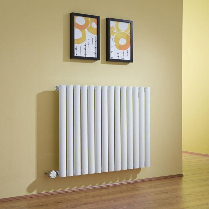 Radiatore di Design Elettrico Orizzontale - Bianco - 635mm x 834mm x 56mm - Revive