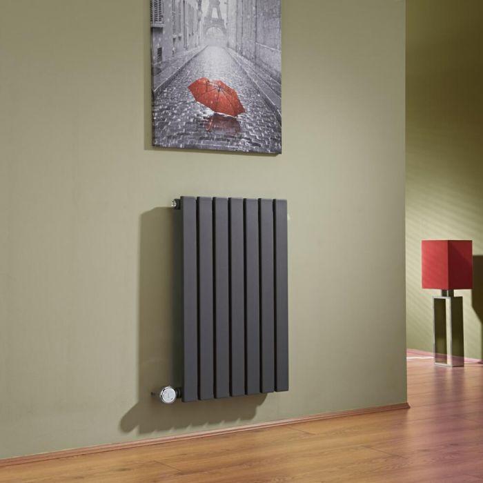 Radiatore di Design Elettrico Orizzontale - Antracite - 635mm x 420mm x 54mm - Sloane