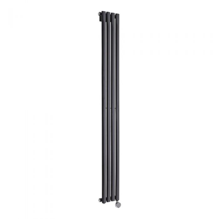 Radiatore di Design Elettrico Verticale - Nero - 1780mm x 236mm x 56mm - Revive