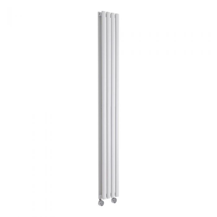 Radiatore di Design Elettrico Verticale Doppio - Bianco - 1780mm x 236mm x 78mm - Revive