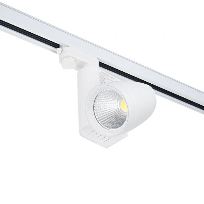 Faretto LED 25W Bianco Per Binario Trifase