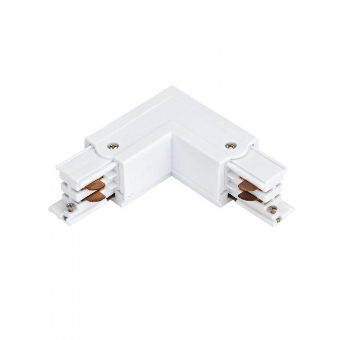 Connettore Tipo L per Binario Trifase - Bianco