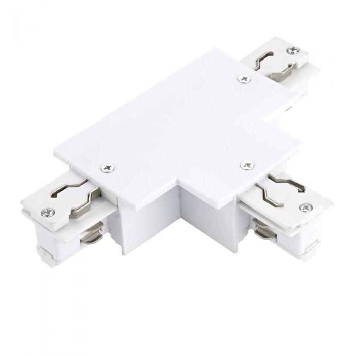 Connettore Per Binario Tipo T per Binario con Sistema Trifase da Incasso - Bianco