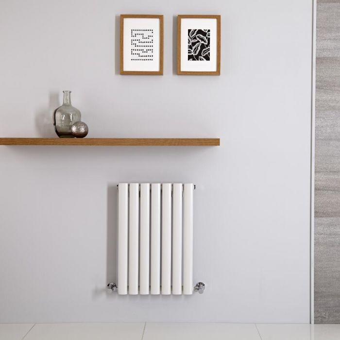 Radiatore di Design Orizzontale - Bianco Antracite - 600mm x 415mm x 78mm - 390 Watt - Revive