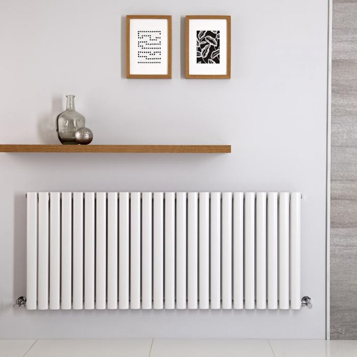 Radiatore di Design Orizzontale - Bianco Antracite - 601mm x 1000mm x 78mm - 1331 Watt - Revive