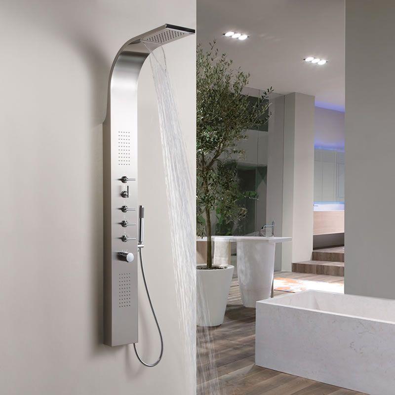 Pannello doccia multifunzione termostatico con soffione a - Soffione a cascata ...
