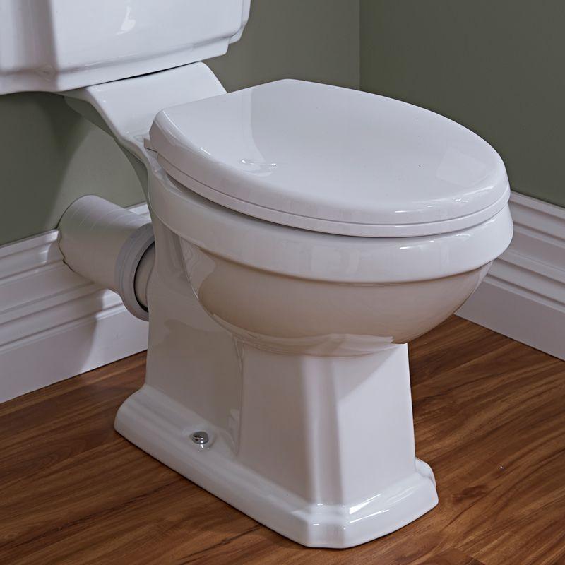 Sanitario bagno wc retro con scarico orizzontale for Scarico wc a parete