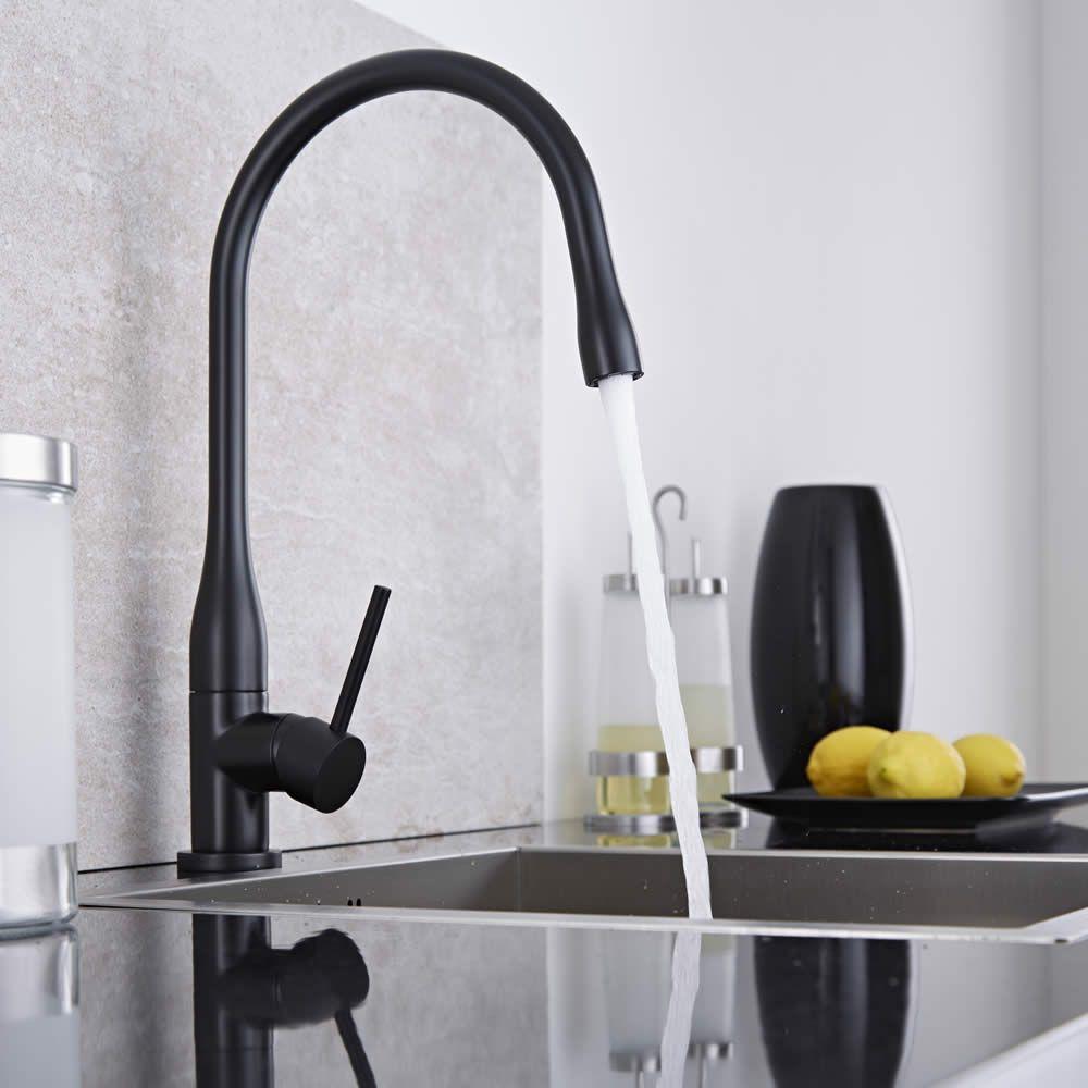 Rubinetto miscelatore lavello cucina retro colore nero - Scaldasalviette per cucina ...