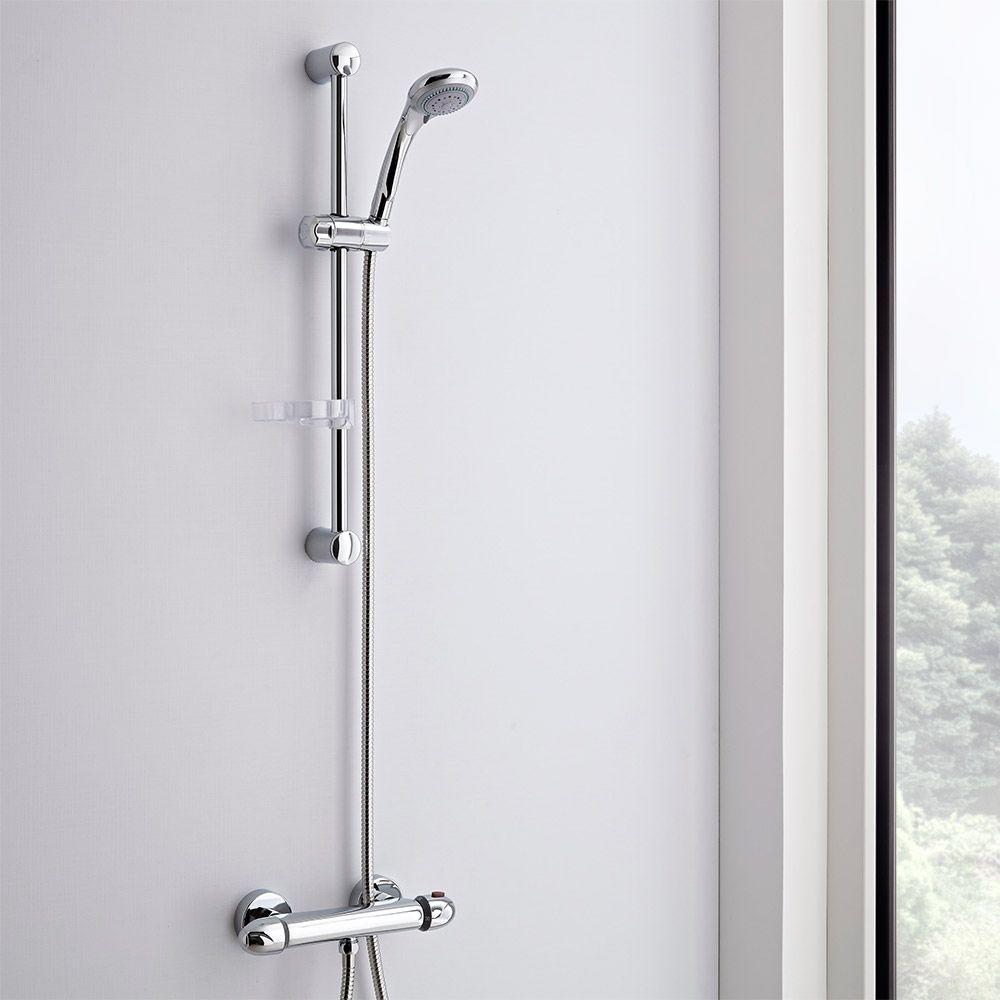 Kit doccia completo con miscelatore doccia esterno asta - Box doccia da esterno ...
