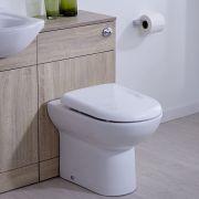 Mobile Bagno Colore Noce con WC Integrato 76x50x30cm