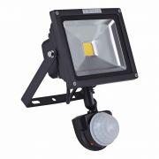 Faro Proiettore LED COB 20W con Sensore di Movimento con Struttura Nera