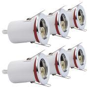 6 Faretti da Incasso Orientabili Circolari per LED Downlight GU10 IP20