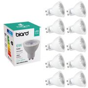 Set 10x FarettI Spot LED da Soffitto 6W Equivalente a 50W