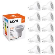 Set 10xFarettI Spot LED GU10 da Soffitto 8W Equivalente a 50W
