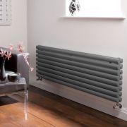 Radiatore di Design Orizzontale Doppio - Antracite - 472mm x 1600mm x 78mm - 1611 Watt - Revive