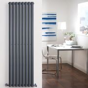 Radiatore di Design Verticale Doppio - Antracite - 1780mm x 472mm x 78mm - 1868 Watt - Revive