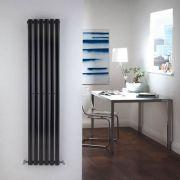 Radiatore di Design Verticale - Nero - 1600mm x 354mm x 56mm - 841 Watt - Revive