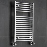 Radiatore Scaldasalviette Curvo - Cromato - 800mm x 500mm x 48mm - 327 Watt - Ischia