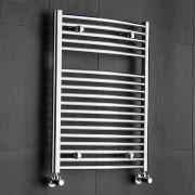 Radiatore Scaldasalviette Curvo - Cromato - 800mm x 600mm x 52mm - 389 Watt - Ischia