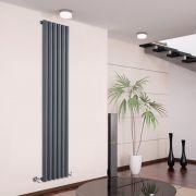 Radiatore di Design Verticale - Antracite - 1780mm x 354mm x 81mm - 1043 Watt - Savy