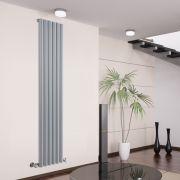 Radiatore di Design Verticale - Argento - 1780mm x 354mm x 80mm - 1043 Watt - Savy
