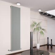 Radiatore di Design Verticale - Argento - 1780mm x 472mm x 80mm - 1391 Watt - Savy