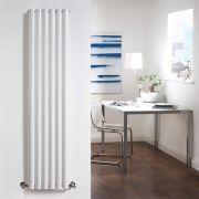 Radiatore di Design Verticale - Bianco - 1600mm x 354mm x 58mm - 841 Watt - Revive