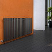 Radiatore di Design Orizzontale  - Antracite - 635mm x 1180mm x 56mm - 1194 Watt - Revive