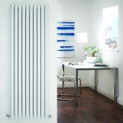 Radiatore di Design Verticale Doppio - Bianco - 1780mm x 590mm x 78mm - 2335 Watt - Revive