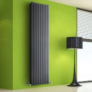 Radiatore di Design Verticale Doppio - Antracite - 1780mm x 560mm x 86mm - 2158 Watt - Rombo