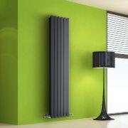 Radiatore di Design Verticale Doppio - Antracite - 1600mm x 420mm x 86mm - 1475 Watt - Rombo