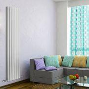 Radiatore di Design Verticale Doppio - Bianco - 1780mm x 420mm x 60mm - 1484 Watt - Delta