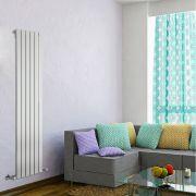 Radiatore di Design Verticale - Bianco - 1600mm x 420mm x 47mm - 879 Watt - Delta