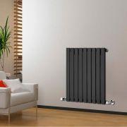 Radiatore di Design Orizzontale - Nero - 635mm x 630mm x 46mm - 563 Watt - Delta