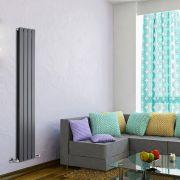 Radiatore di Design Verticale Doppio - Antracite - 1600mm x 280mm x 60mm - 882 Watt - Delta