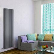 Radiatore di Design Verticale Doppio - Antracite - 1600mm x 560mm x 60mm - 1764 Watt - Delta