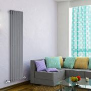Radiatore di Design Verticale - Antracite - 1600mm x 420mm x 47mm - 879 Watt - Delta