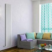 Radiatore di Design Verticale Doppio - Bianco - 1780mm x 350mm x 60mm - 1237 Watt - Delta