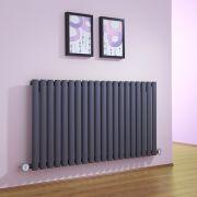 Radiatore di Design Elettrico Orizzontale - Antracite - 635mm x 1180mm x 56mm - Revive