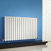 Radiatore di Design Orizzontale Doppio - Bianco - 635mm x 1000mm x 71mm - 1587 Watt - Sloane