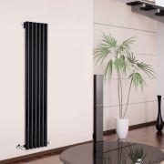 Radiatore di Design Verticale - Nero - 1780mm x 354mm x 80mm - 1043 Watt - Savy