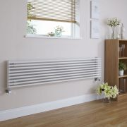 Radiatore di Design Orizzontale  - Bianco - 342mm x 1600mm x 84mm - 1117 Watt - Fin