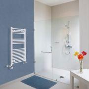 Radiatore Scaldasalviette Misto Curvo - Bianco - 1000mm x 500mm x 45mm - 540 Watt - Etna