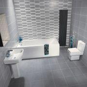 Set Completo per Stanza da Bagno con Vasca, Lavabo e Sanitario in Stile Moderno