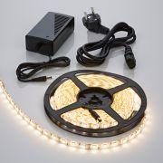 Strisce LED 5 metri con Trasformatore 300 LED Colore Bianco Caldo