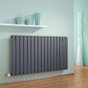 Radiatore di Design Elettrico Orizzontale - Antracite - 635mm x 1190mm x 46mm - Delta