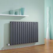 Radiatore di Design Elettrico Orizzontale - Antracite - 635mm x 980mm x 46mm - Delta