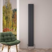 Radiatore di Design Verticale Doppio - Antracite - 1800mm x 230mm x 76mm - 1002 Watt - Revive Air