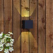 Applique Murale da Esterno Nero Bidirezionale LED 6W - Prism